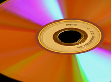 DVD-r Disc. Close-up Stock Image