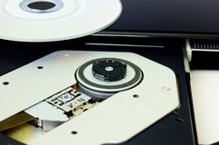 DVD recorder closeup stock photography