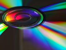 DVD refracting light stock photo