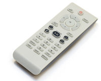DVD remote. Isolated on white background royalty free stock photo