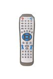 DVD remote control. Isolated on white background royalty free stock images