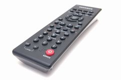 DVD remote control. DVD remote control isolated on white background image royalty free stock images