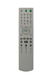 DVD remote control. Isolated on white background stock photos
