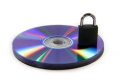 DVD riflesso variopinto e protezione dei dati Immagine Stock