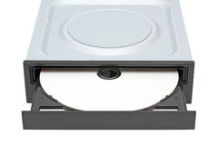 DVD-ROM drive with disk Stock Image