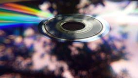 DVD-ROM met bezinningen Stock Afbeelding