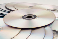 Dvd's. A composition of dvd discs Royalty Free Stock Photo