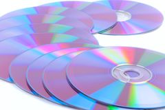 DVD's Royalty Free Stock Photos