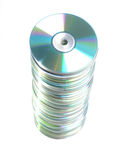 DVD's heap Stock Images