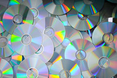DVD's heap Stock Photos