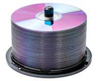 DVD schijfstapel royalty-vrije stock afbeeldingen