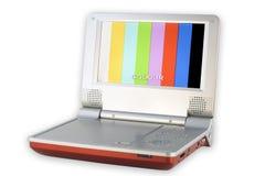 DVD-Spieler mit Bildschirm der geringen Qualität lizenzfreie stockbilder