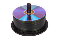DVD spindle Royalty Free Stock Photography
