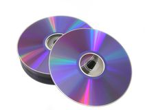 DVD stack Royalty Free Stock Photos