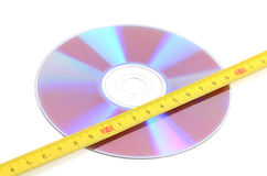 DVD and steel tape Stock Photos