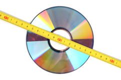 DVD and steel tape Royalty Free Stock Photos