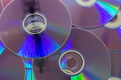 DVD, stoccaggio digitale del disco ottico Fotografia Stock