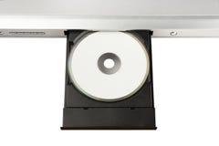 DVD sul cassetto del disco Fotografie Stock