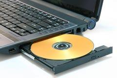 DVD sur l'ordinateur Image libre de droits