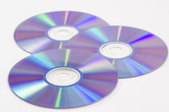 Dvd três Foto de Stock Royalty Free