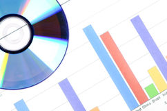 DVD and trend graph Stock Images