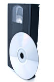 DVD U. VHS Lizenzfreies Stockfoto