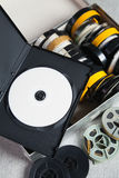 Dvd und alte 8 Millimeter und Super8 Lizenzfreie Stockfotografie