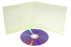 DVD und Kasten lizenzfreies stockbild