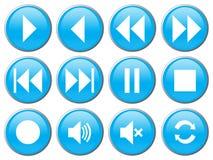 DVD/VCR/CD的传媒播放装置按钮 免版税库存照片