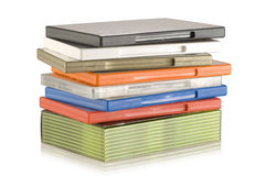 DVD video cases Stock Image