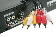 DVD video jack with cables Royalty Free Stock Image