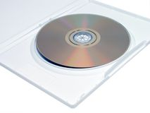 DVD in wit geval Stock Foto