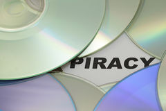 DVD and word of piracy Royalty Free Stock Image