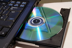 DVD writer Royalty Free Stock Image