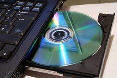 DVD writer. Laptop DVD writer royalty free stock image