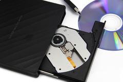 Dvd writer open tray Royalty Free Stock Photos