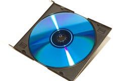 DVD y CD del color con la caja Imagen de archivo libre de regalías