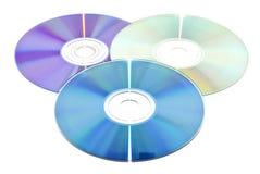 Dvd y Cdes fotografía de archivo libre de regalías