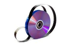 DVD y película Foto de archivo libre de regalías