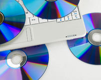 dvdbärbar dator Royaltyfria Bilder