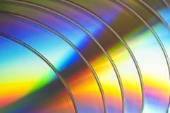 Предпосылка компактных дисков или dvds Стоковая Фотография RF
