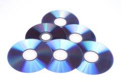 DVDs al azar Imagen de archivo libre de regalías