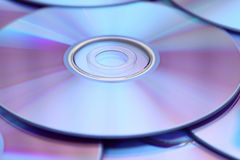 DVDs background Stock Photos