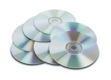 DVDs Cd avec le chemin Photo stock