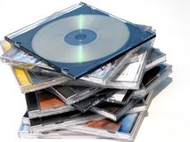 Dvds/cds Royalty Free Stock Photos