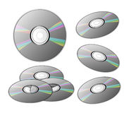 DVDs or CDs Stock Photography