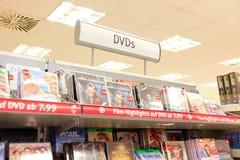 DVDs em Alemanha Foto de Stock