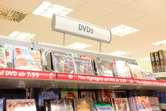DVDs in germany Stock Photo