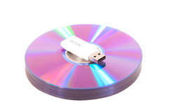 DVDs mit grellem Antrieb Lizenzfreies Stockbild