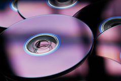 DVDs o Cd Fotografia Stock Libera da Diritti